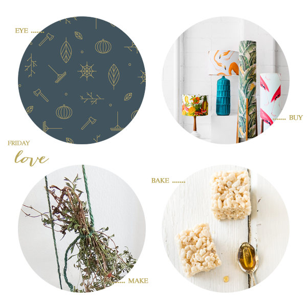 fall desktop wallpaper, retro lamps, diy dried herbs, and salted honey rice krispies / a thousand threads