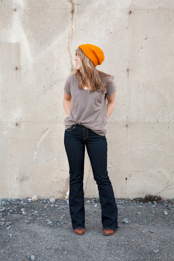 orange hat & jeans / a thousand threads