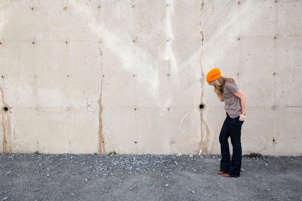 orange hat & jeans / a thousand threads