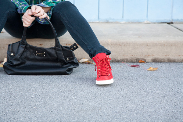 how to wear wedge sneakers / a thousand threads