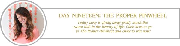 24 merry days / the proper pinwheel