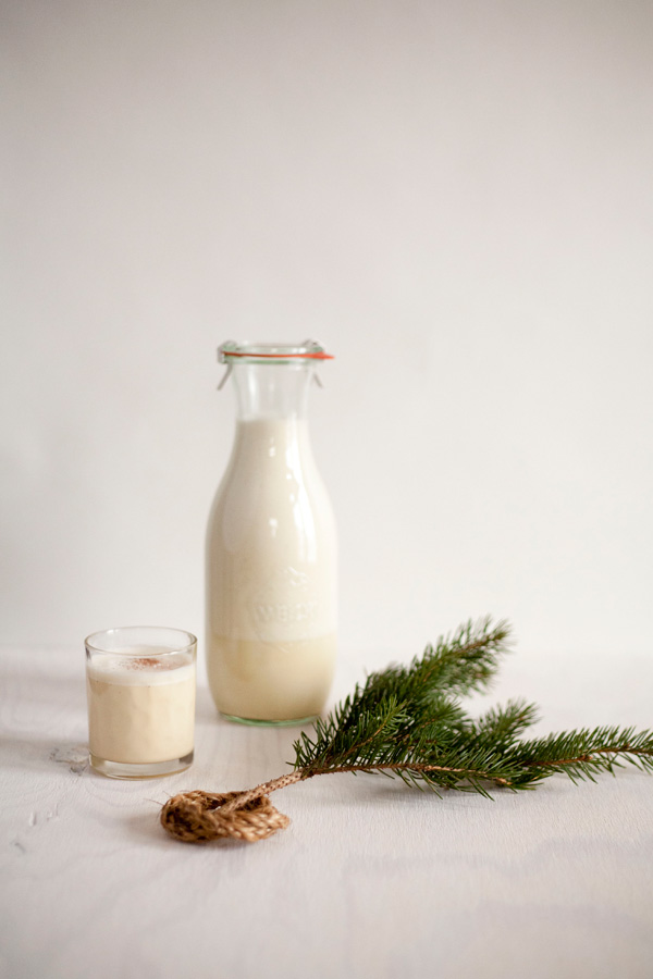 homemade eggnog / a thousand threads