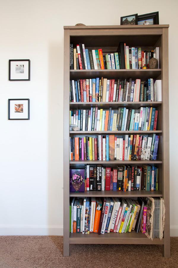 diy ombré bookcase // a thousand threads