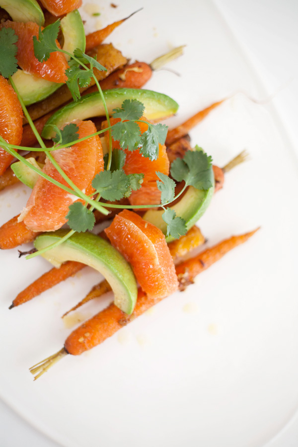 fresh carrot, avocado and orange salad // a thousand threads
