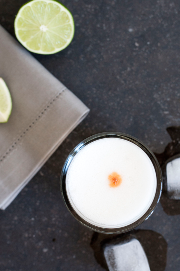 rhubarb pisco sour // a thousand threads