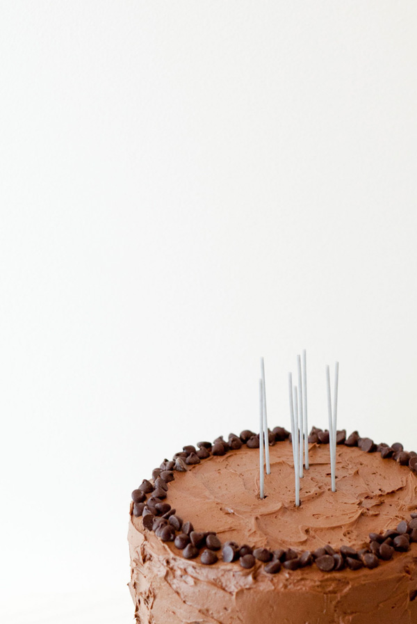 triple chocolate chip cookie dough cake // a thousand threads