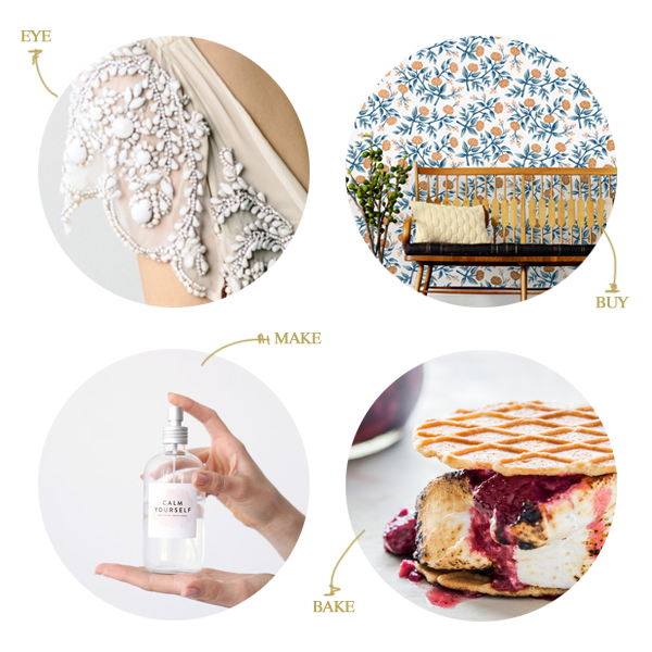 // wedding inspiration, rifle wallpaper, diy face mist, roasted berry smores