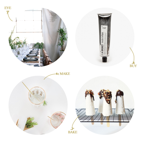 a beautiful dinner party, a sale at need supply, diy drink stirrers, and mini chocolate coconut pops // a thousand threads