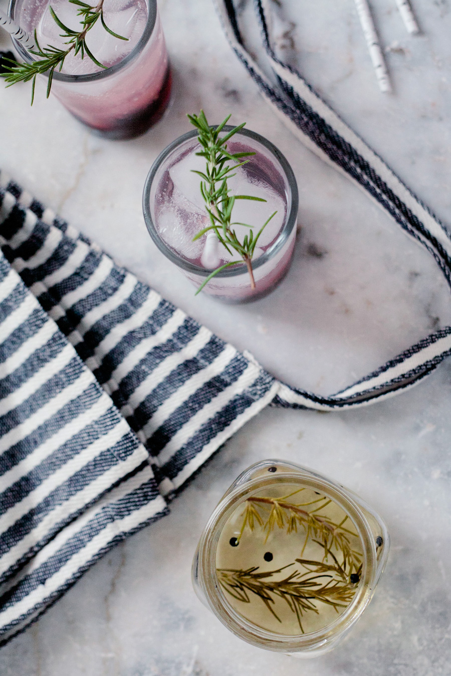 rosemary peppercorn simple syrup // a thousand threads