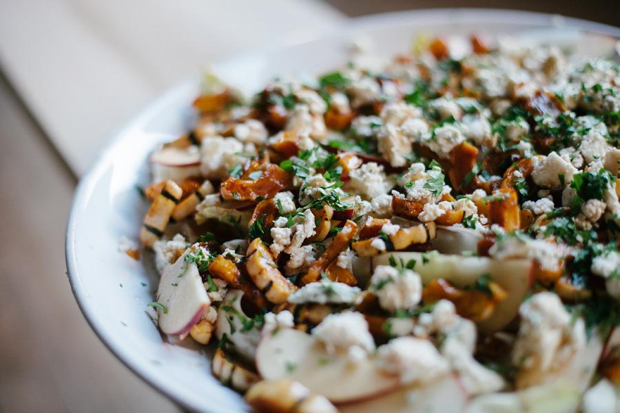 delicata squash and apple salad // a thousand threads