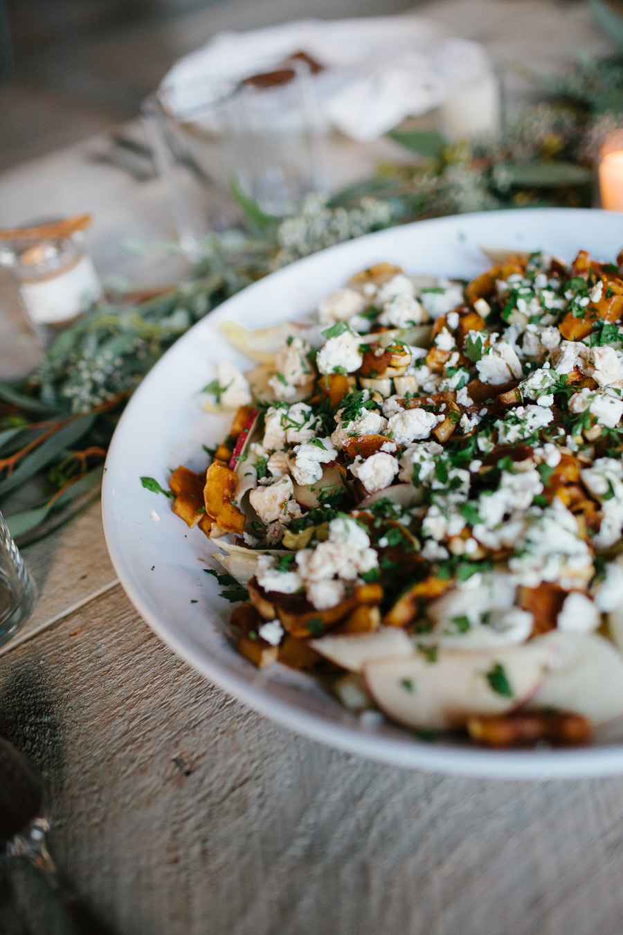 delicata squash and apple salad // a thousand threads