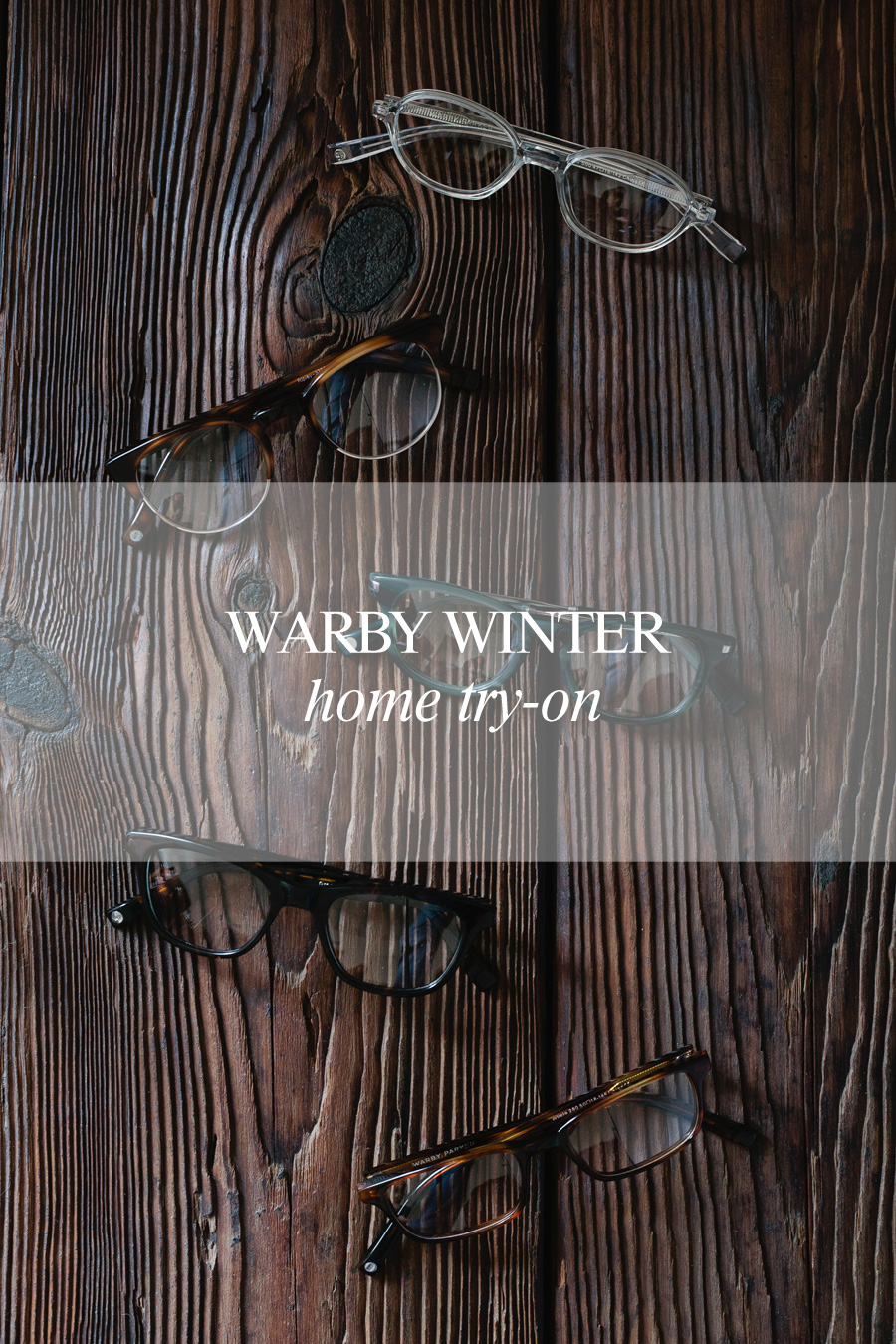 warby winter home try-on // a thousand threads