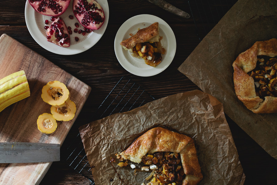 delicata squash galette // a thousand threads