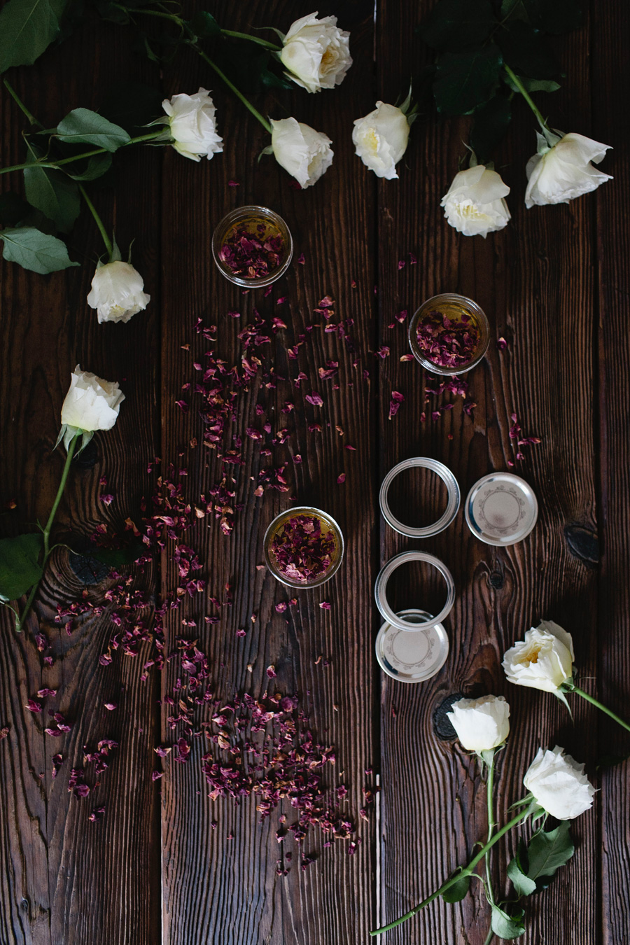 diy rose-infused honey // a thousand threads