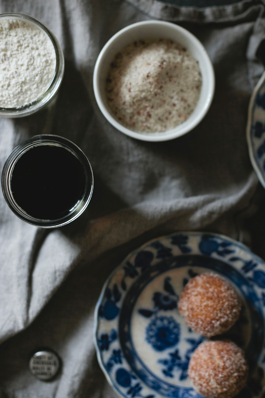 salted chocolate raspberry stout doughnuts // a thousand threads