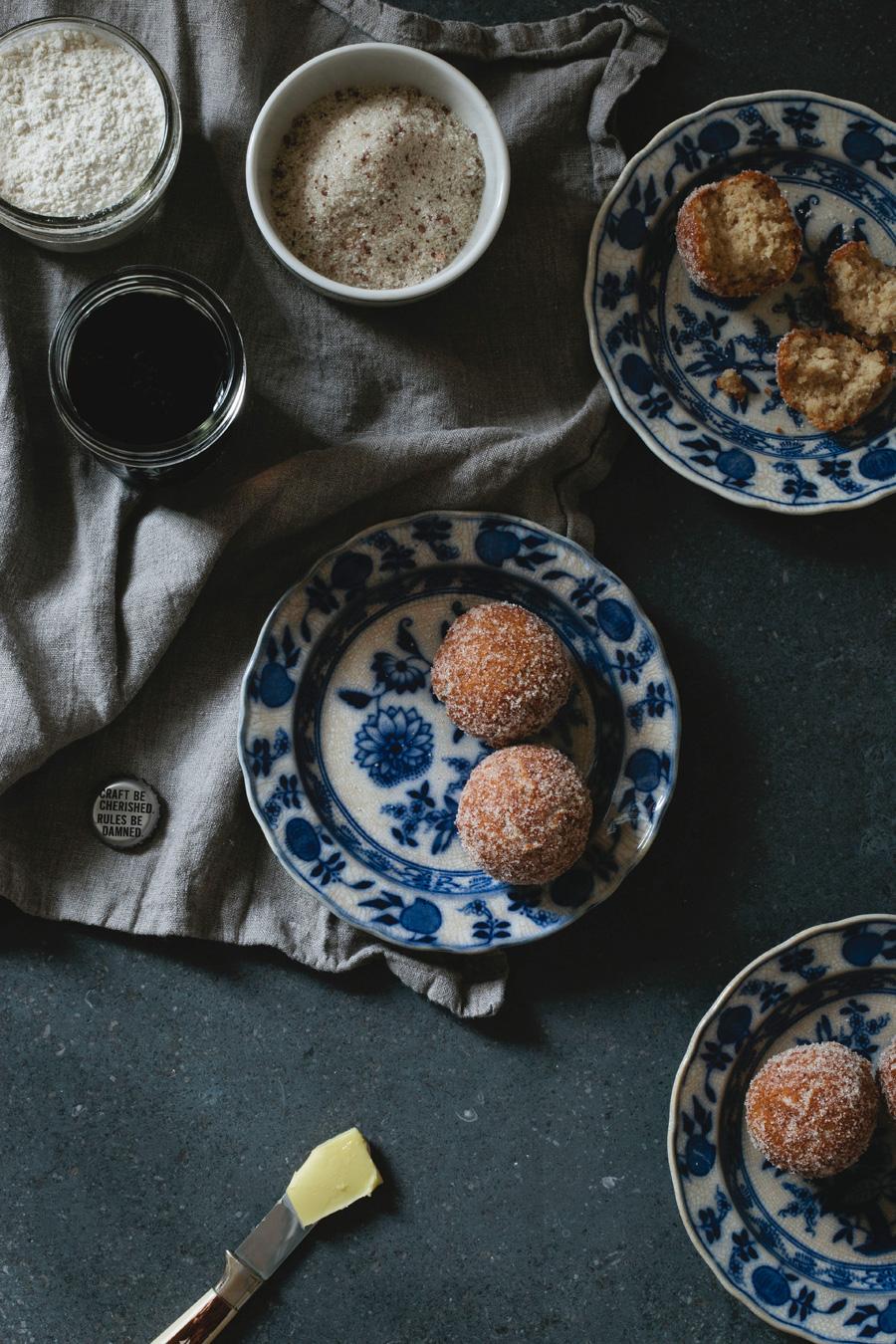 salted chocolate raspberry stout doughnuts // a thousand threads