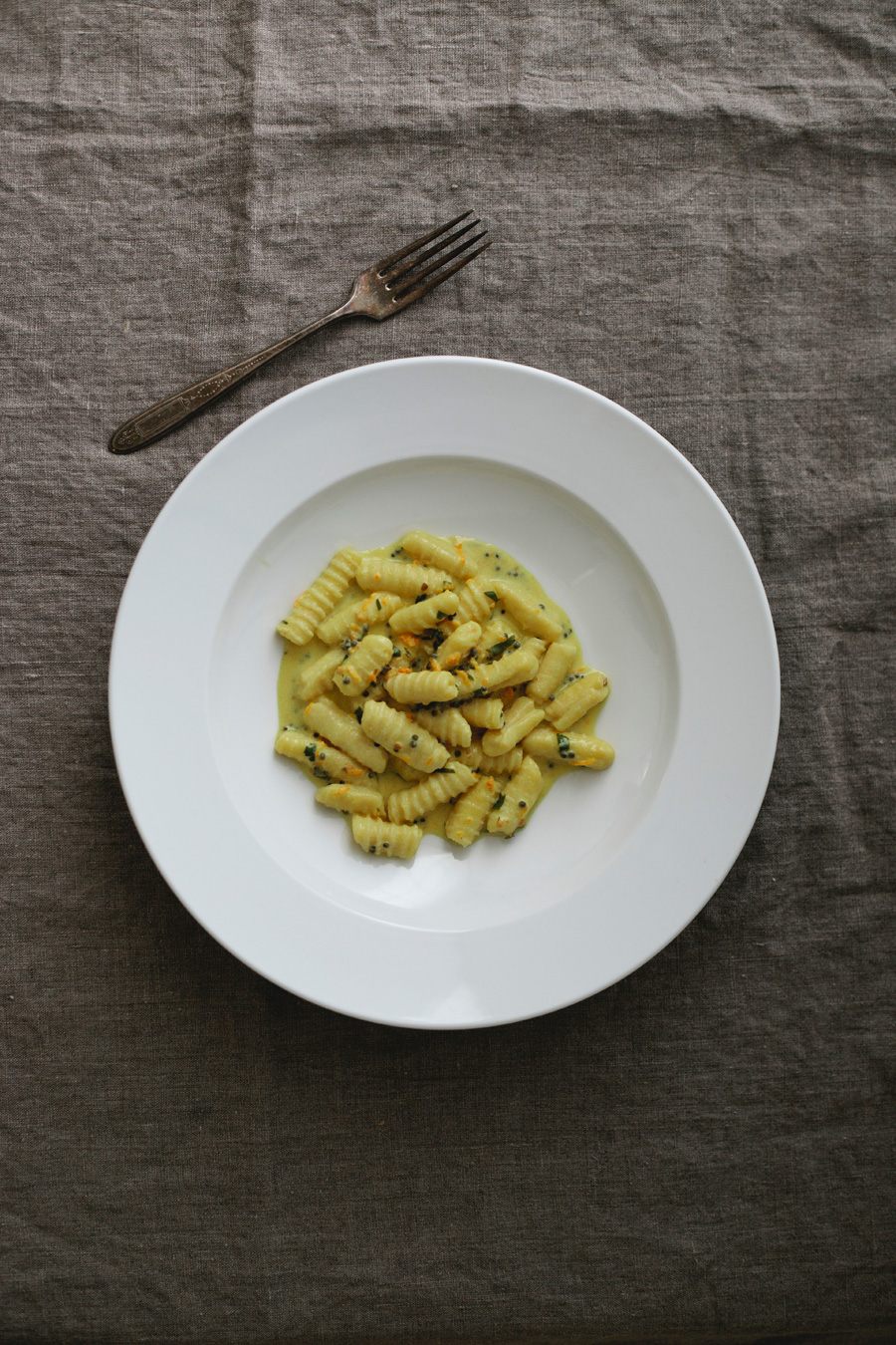 meyer lemon pasta with mustard seed and turmeric // a thousand threads