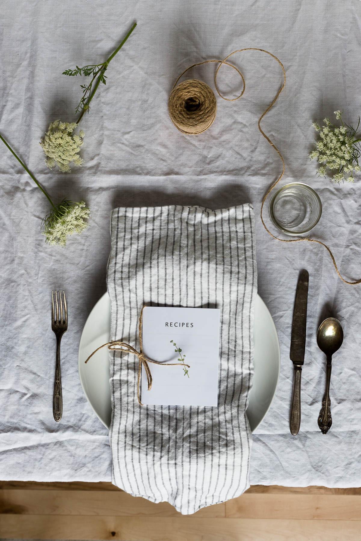 printable recipe book // a thousand threads